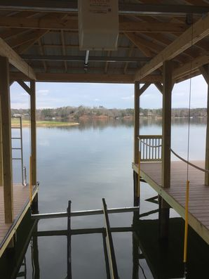 Wiring New Dock & Boat Lift in Hickory, NC (2)