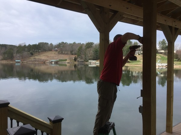 Wiring New Dock & Boat Lift in Hickory, NC (3)