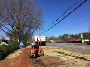Commercial Electric at Dental Office - Trenching & Wiring Sign in Hickory, NC (1)