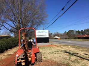 Commercial Electric at Dental Office - Trenching & Wiring Sign in Hickory, NC (2)