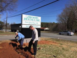 Commercial Electric at Dental Office - Trenching & Wiring Sign in Hickory, NC (3)