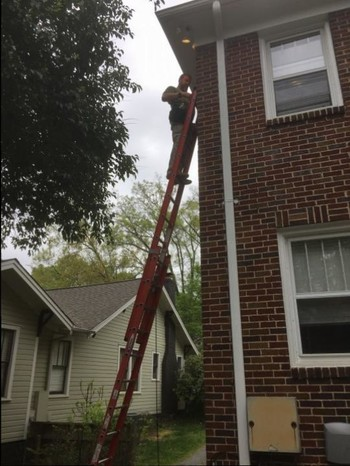 Installing new flood lighting