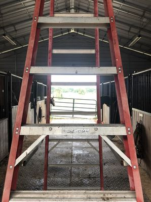 Install LED Lighting in Newton, North Carolina at a Horse Barn (4)