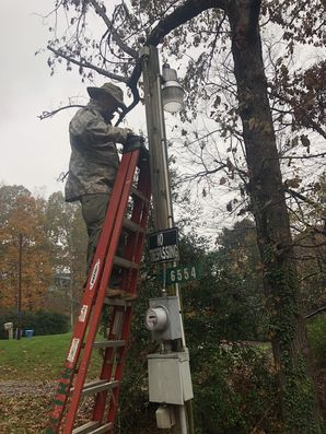 Install New LED Pole Light in Lake Hickory, NC (2)