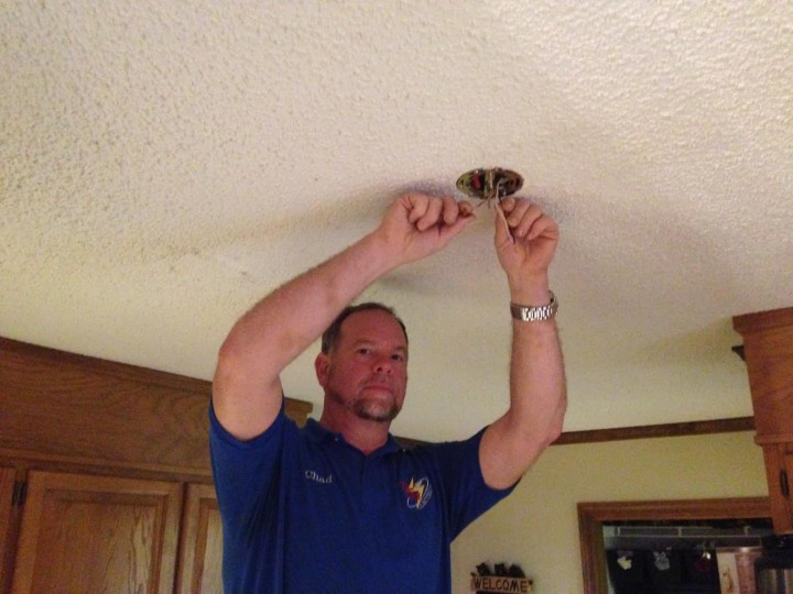 Install of new kitchen lights in Hickory, NC by Tri-City Electric
