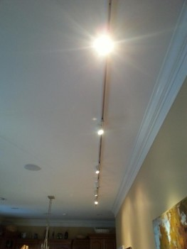 New track lighting for artwork in kitchen in Gastonia, NC